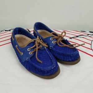 Sperry Top Slider Blue Corduroy Shoes